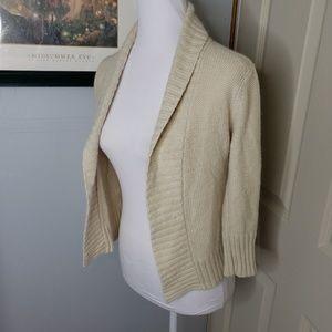 Fossil Cardigan Sweater Size Small Ramie Angora